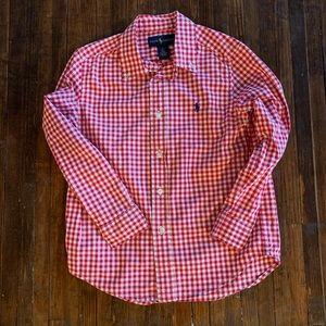 Ralph Lauren Boys' Red Gingham Shirt